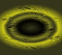 Grunge green circle light background texture - stock illustration