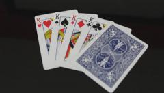 Tilt Up to King Playing Cards Stock Footage