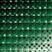 Retro style square and stripes vector dark green background - stock illustration