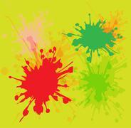 Watercolor paint splash background Piirros
