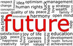 Future Wordcloud Stock Illustration