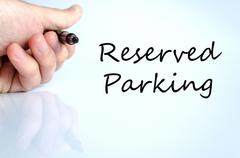 Reserved parking Hand Concept Stock Photos