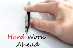 Hard work ahead Hand Concept Stock Photos