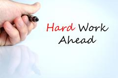 Hard work ahead Hand Concept - stock photo