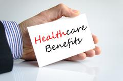 Healthcare benefits Text Concept Stock Photos