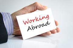 Working abroad Text Concept - stock photo