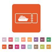 Stock Illustration of The cruise ship tickets icon. Travel symbol