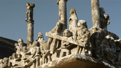 Biblical sculpture in Brittany, detail - stock footage