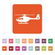 The helicopter icon. Copter symbol. Flat - stock illustration