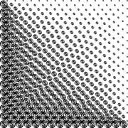 Halftone helix - stock illustration