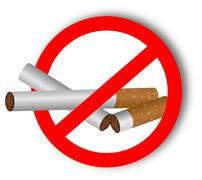 Stop using narcotics - sticker - stock illustration