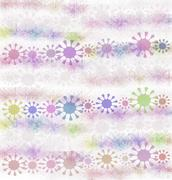 Stock Illustration of Abstract floral background - pastel colors