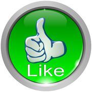 Thumb up button Kuvituskuvat