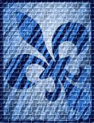 Stock Illustration of Fleur de lis - graffiti on the wall