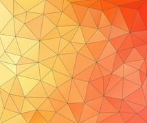 Abstract glass vitrage-orange spectrum - stock illustration
