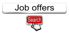 Internet web search engine job offers - stock photo
