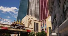 Steadicam Las Vegas Hotel New York. New York Stock Footage