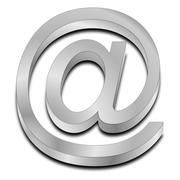 Email symbol 3d - stock photo