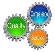 Quality Competence Service Stock Photos