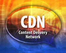Stock Illustration of CDN acronym definition speech bubble illustration