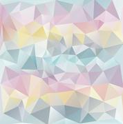 Abstract polygonal texture-pastel colours - stock illustration