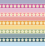 Seamless floral pattern-pastel colours - stock illustration