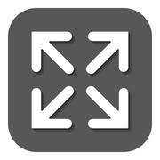 Stock Illustration of The full screen icon. Arrows symbol. Flat