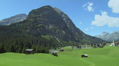 Summer at the Mountain Town of Lech Stock Footage