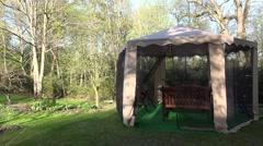 Garden bower in spring. 4K Stock Footage