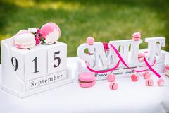 calendar cake - stock photo