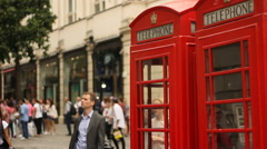 Telephone booth, London Stock Footage