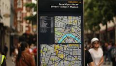Pedestrian zone in London Stock Footage