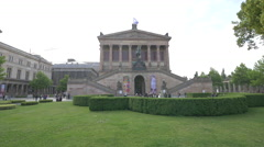 Best view of the Old National Gallery in Berlin Stock Footage