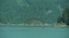 White motor yacht passing by. Stock Footage