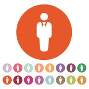 Stock Illustration of The business man icon. Avatar and user, men, gentleman symbol. Flat