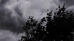 Dark Thunder Lightning Storm Clouds Rotating Stock Footage