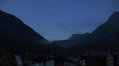 Early Morning Time Lapse at an Alpine Village - stock footage