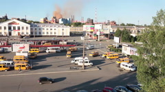 Building of railways station in Nizhny Tagil, camera review Stock Footage