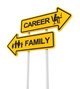 Career or family - stock illustration
