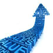 Business improvement arrow - stock illustration