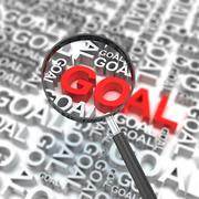 Clear business goal Stock Illustration