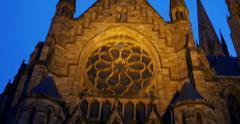 St. Paul's Church of Strasbourg Stock Footage