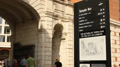 Temple Bar, London Stock Footage