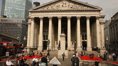 Bank of England museum, London - stock footage