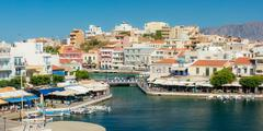 AGIOS NIKOLAOS, GREECE - JULY 20, 2014: Agios Nikolaos - stock photo