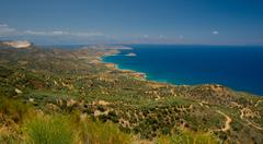 Amazing view on Crete island, Greece. - stock photo