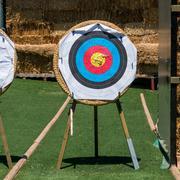 Archery shooting target Stock Photos