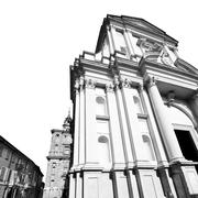 building old architecture in italy europe milan religion       and sunlight - stock photo