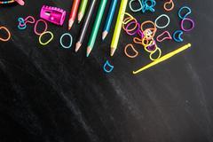 kid's stuff and sweets - stock photo