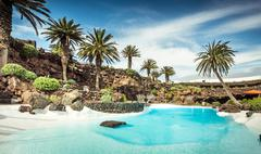 Jameos del Agua pool, Lanzarote Stock Photos